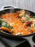 アレンジ☆タコと野菜のチーズタッカルビ