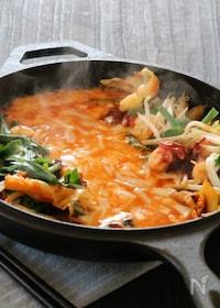 『アレンジ☆タコと野菜のチーズタッカルビ』