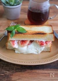 『いちじくとマスカルポーネチーズのハニートースト』