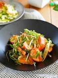 【3分】和えるだけ♪ほんのり中華たっぷり薬味とトマトのサラダ