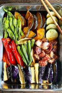夏野菜とたこの揚げ浸し