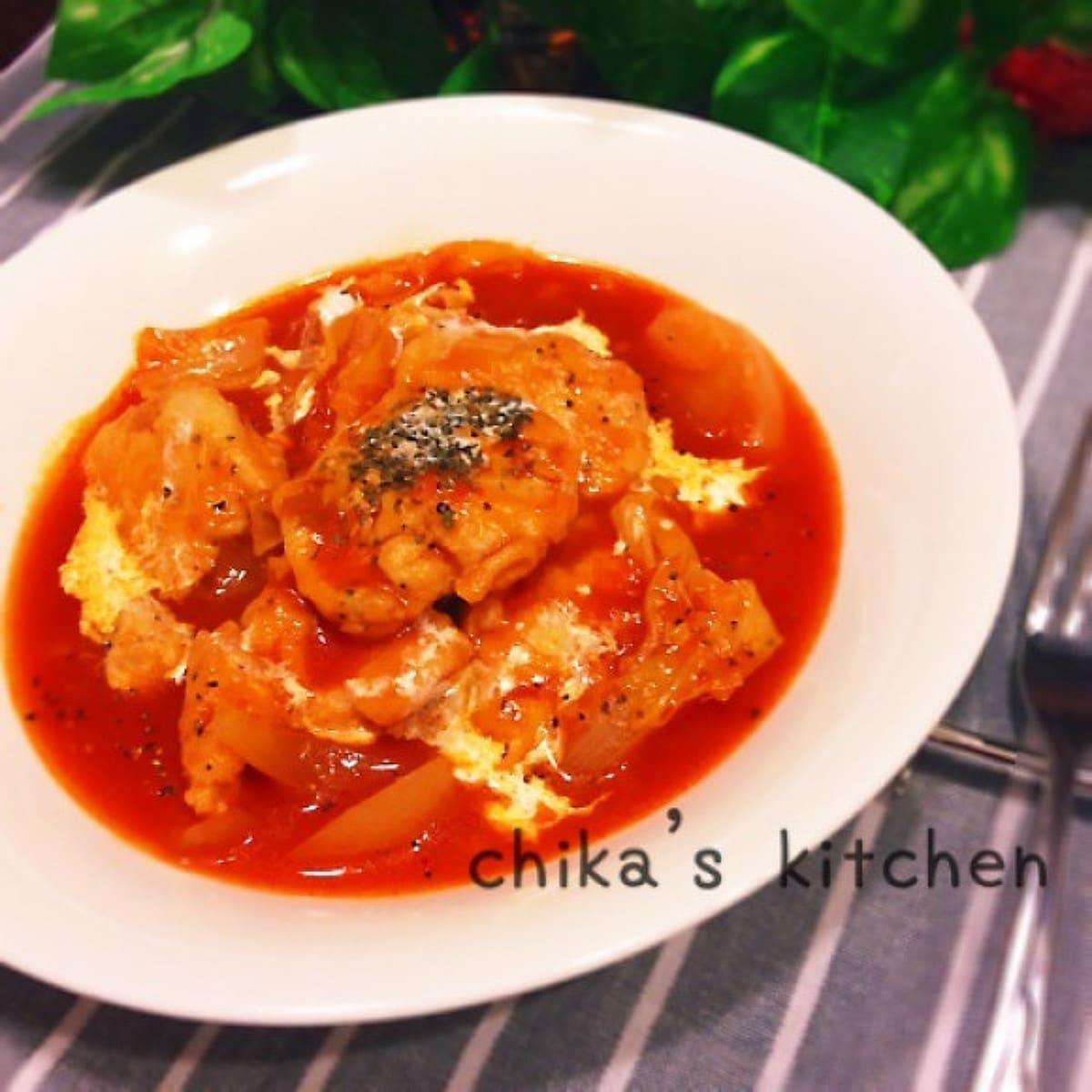 トマト 煮 の チキン