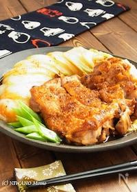 『鶏肉と白菜の照り焼き柚子七味ステーキ』