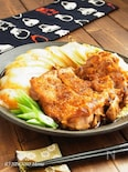 鶏肉と白菜の照り焼き柚子七味ステーキ
