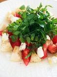 白桃とトマトとクリームチーズの冷菜