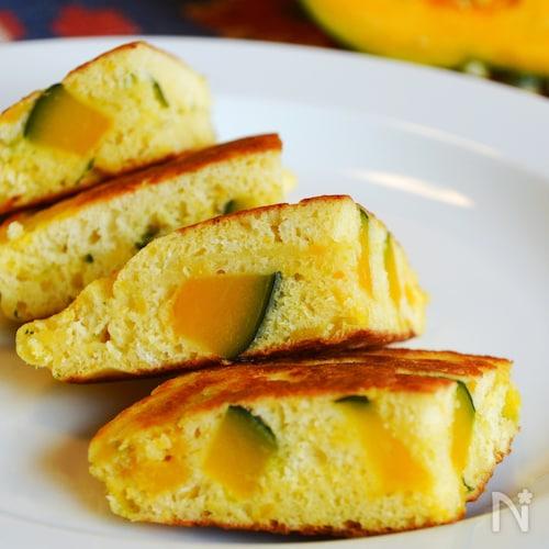 簡単!かぼちゃのホットケーキ。ほっこり甘い野菜のおやつ!