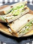 神戸屋さん円熟で「チキンと粒マスタードの分厚いサンドイッチ」