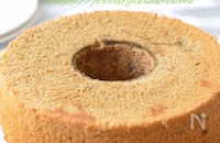 アーモンドミルクコーヒーの米粉シフォン♬
