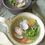 旨味たっぷり。浅利と空芯菜のスープ(夏の養生ごはん)