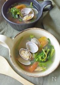 『旨味たっぷり。浅利と空芯菜のスープ(夏の養生ごはん)』