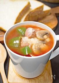『簡単♪キャベツたっぷりトマトスープ』