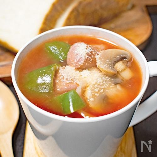 簡単♪キャベツたっぷりトマトスープ