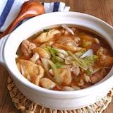 鶏肉とお揚げとねぎのとろーり鍋仕立て