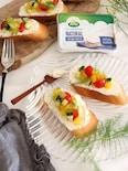 夏野菜マリネのオープンサンド