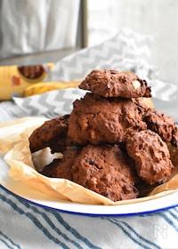 『チョコバナナドロップクッキー#卵不要#しっとり濃厚#簡単』