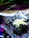 紫色の綺麗な野菜*金時草のお浸し
