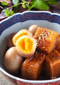 『【厚揚げで豚の角煮風】厚揚げとゆで卵の角煮#作り置き#お弁当』