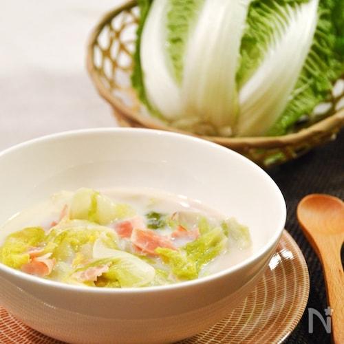 とろける♪白菜とベーコンの豆乳クリーム煮。冬の洋風おかず。