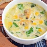 【常備食材で簡単】ぽかぽか♪あさりの豆乳スープ