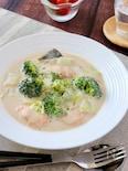 とろとろ白菜とサーモンブロッコリーの中華風クリーム煮