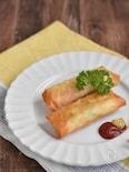 白菜とツナサラダのベーコンチーズ春巻き