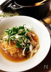 『ストウブ調理・鶏肉の大根おろし煮[香味野菜のせ]』