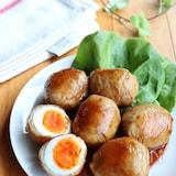 家族が喜ぶ♡半熟卵の肉巻き照り焼き