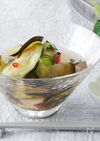 『水ナスと夏野菜の水キムチ』