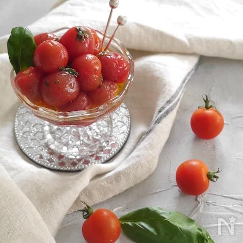 プチトマトの蜂蜜レモンマリネ