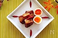 圧力鍋で簡単❣️『ガーリック風味の豚の角煮』