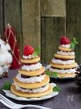 かんたんおやつ♪重ねて楽しいかわいいパンケーキツリー