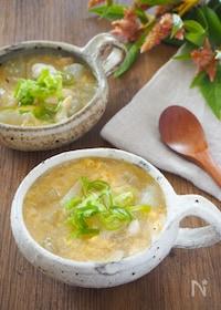 『【むくみに効果絶大】とろとろ冬瓜とささみの卵スープ』