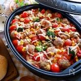 家族で楽しむ♡『Wトマトチーズのミートボール煮込み』