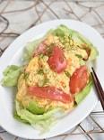 トマトと卵のとろーりチーズ焼き