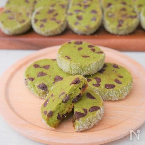 ザクホロ!抹茶とチョコチップのディアマンクッキー