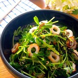 簡単・節約・ヘルシー♡激旨レンチン豆苗とちくわの塩昆布ナムル