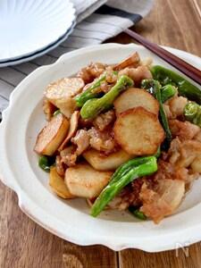 里芋と豚バラの甘辛炒め