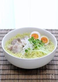 『鶏ガラで作る透きとおるスープ「本格塩ラーメン」』