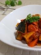 根菜と鶏肉のトマト煮込み