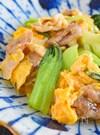 ちんげん菜と豚肉たまごの中華風炒め