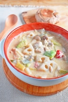 鶏とごろごろ野菜のおかずスープ