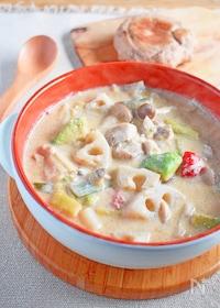『鶏とごろごろ野菜のおかずスープ』