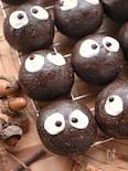 HBで簡単♡子供が笑顔になる♡まっくろくろすけのチョコパン♡