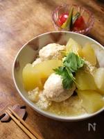 鶏団子と冬瓜の旨煮丼