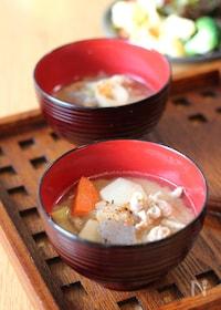 『【基本の和食】お鍋いっぱいにできる具だくさん豚汁』