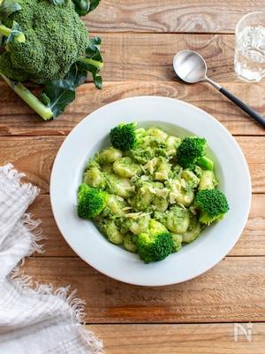 豆腐ニョッキのブロッコリーソース。ヴィーガン&グルテンフリー