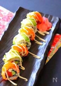 『カリフォルニアロール-巻き寿司・裏巻き寿司の作り方と巻き方』