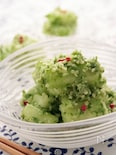 青ネギとキヌアソースの胡瓜サラダ