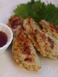鶏ひき肉と白菜の大根挟み焼き