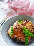 フライパンで簡単に鶏手羽先とレンコンの照り焼き